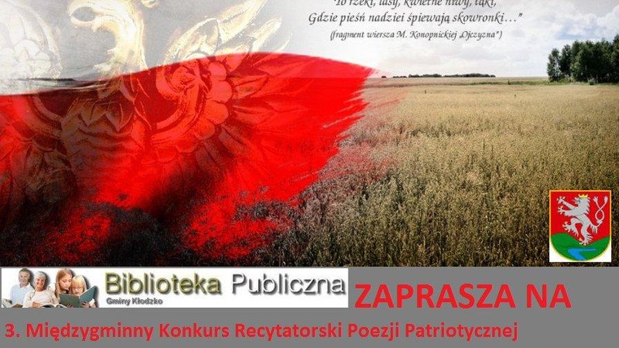 Zaproszenie na 3. Międzygminny Konkurs Recytatorski Poezji Patriotycznej o Listopadowy Liść Adamajtisa 2014