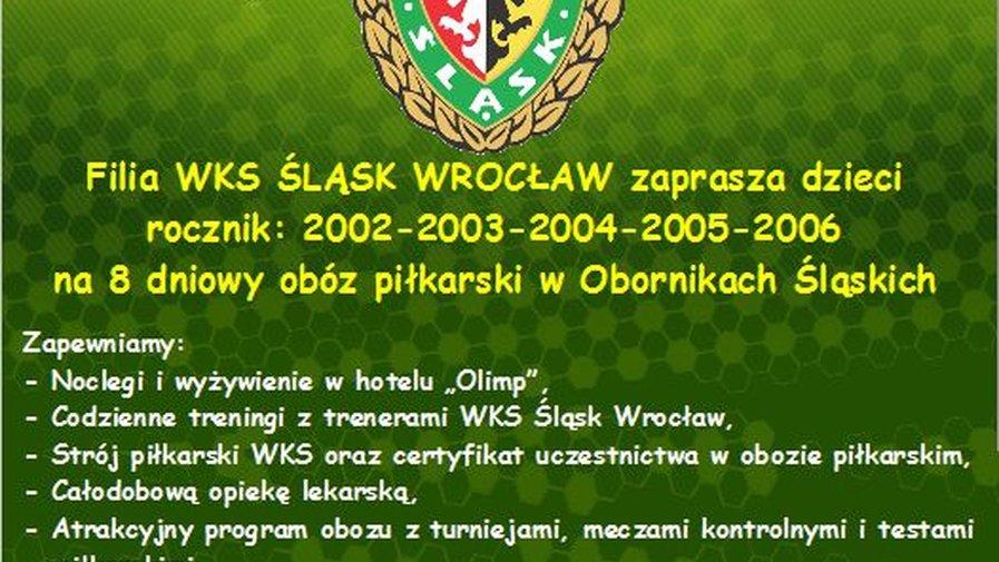UWAGA - letni obóz sportowy 2015 - WKS Śląsk / Filia Gmina Kłodzko