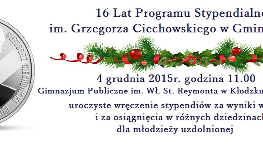 Gala wręczenia stypendiów im. Grzegorza Ciechowskiego