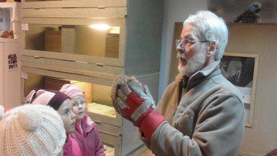 Uczniowie z wizytą u jeży