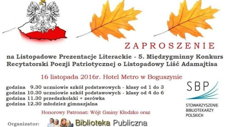 Listopadowe Prezentacje Literackie
