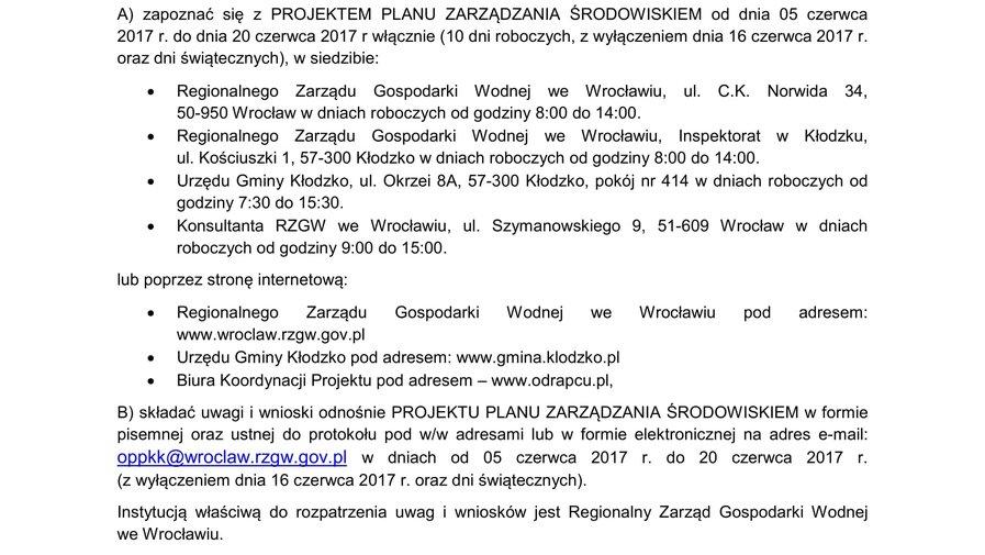 Projekt Planu Zarządzania Środowiskiem