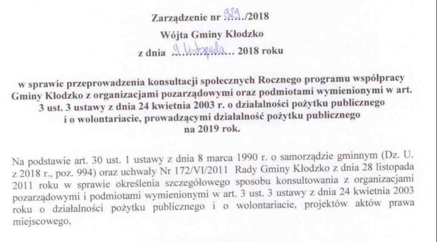 Zarządzenie nr 929/2018