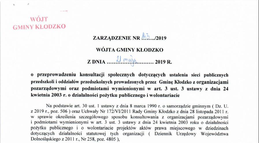 Zarządzenie nr 143/2019