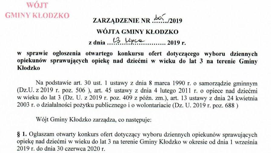 Zarządzenie nr 205/2019
