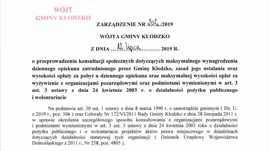 Zarządzenie nr 202/2019