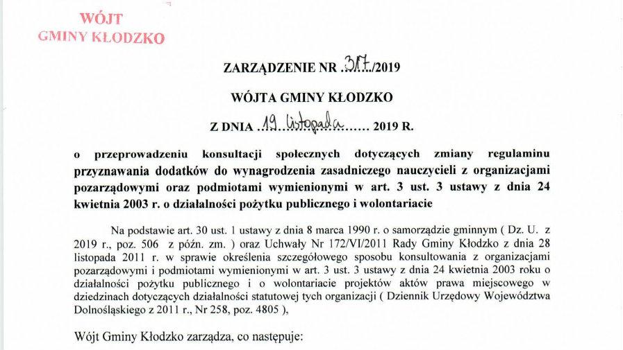 Zarządzenie nr 317/2019