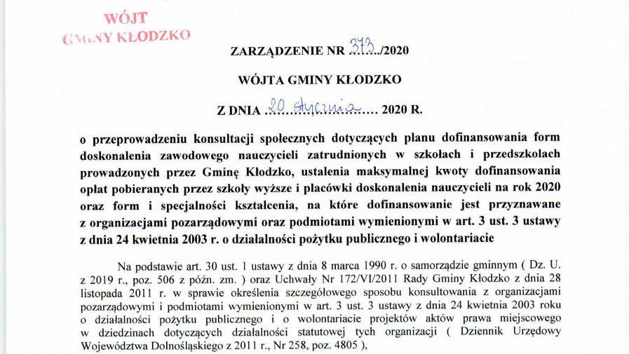 Zarządzenie nr 373/2020
