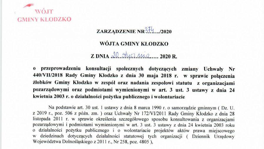 Zarządzenie nr 374/2020