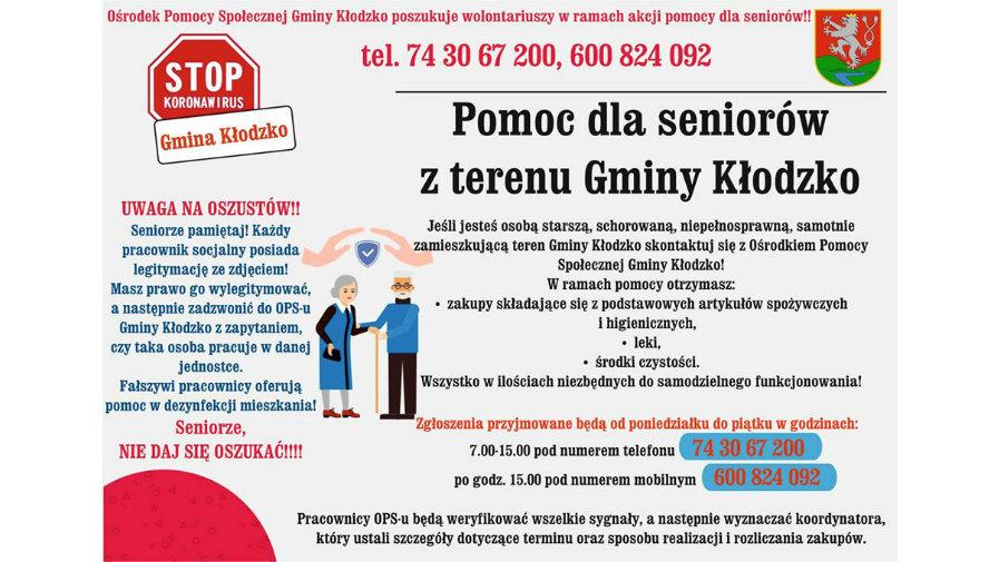 Pomoc dla seniorów z terenu Gminy Kłodzko