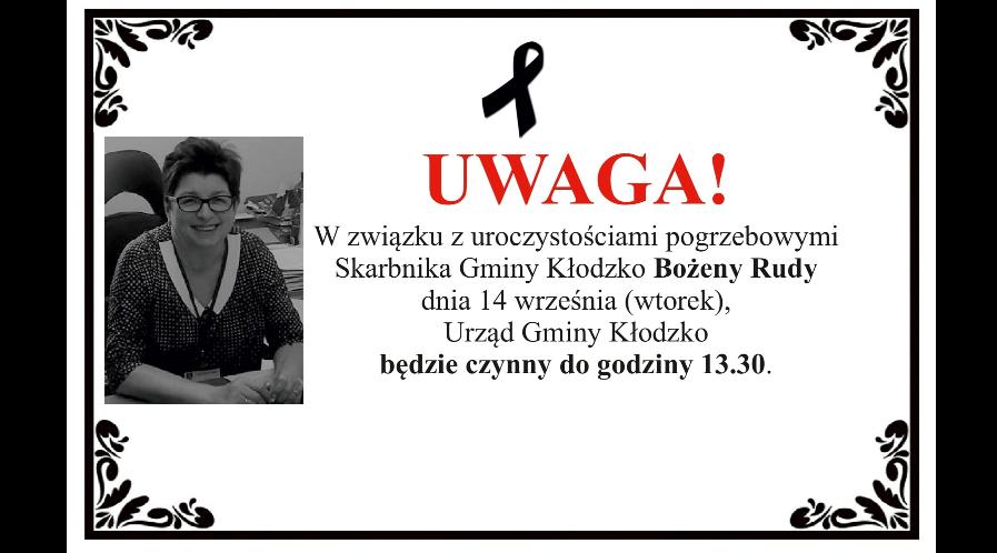 We wtorek (14.09) Urząd czynny do 13.30.